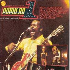 Revistas de música: POPULAR 1 - Nº 48 (JUNIO 77) - CHUCK BERRY / ERIC CLAPTON / THE KINKS - EX. Lote 30620653