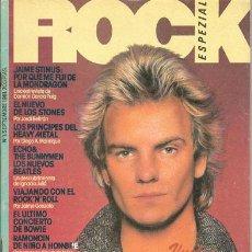 Revistas de música: ROCK ESPEZIAL Nº 1 (SEPT. 81) - POLICE / ECHO & THE BUNNYMEN (SIN DISCO-FLEX) - EX . Lote 30653429