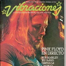Revistas de música: VIBRACIONES Nº 30 (MARZO 77) - PINK FLOYD / BOB MARLEY + 2 POSTERS - COMPLETA - EX. Lote 30687588