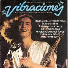 Revistas de música: VIBRACIONES Nº 34 (JULIO 77) - COMPAÑIA ELECTRICA DHARMA / KEVIN AYERS + 2 POSTERS (COMPLETA) - EX. Lote 30687689