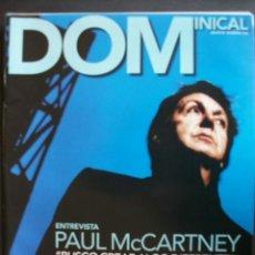 Revistas de música: REVISTA ESPAÑOLA EL DOMINICAL PAUL MCCARTNEY BEATLES. Lote 30860157