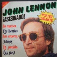 Revistas de música: REVISTA ESPAÑOLA SABADO GRAFICO ASESINATO JOHN LENNON BEATLES. Lote 109241650
