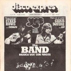 Revistas de música - DISCO EXPRES Nº 371 (16-04-76) - YES / THE BAND / CRUSADERS - EX - 30968434