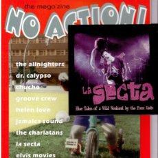 Revistas de música: NO ACTION - FANZINE - LA SECTA + CD BLUE TALES OF A WILD WEEKEND ..... Lote 30974761