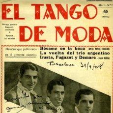 Revistas de música: LOTE 12 NÚMEROS EL TANGO DE MODA (NºS. 1,3,7,8,16,19,20,26,27,30,162,200) BARCELONA, 1928-1932). Lote 31237187