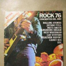 Revistas de música: REVISTA MUSICAL EXTRA VIBRACIONES ROCK 76 CONCIERTOS DEL AÑO EN ESPAÑA - ROLLING STONES, JETHRO TULL. Lote 31240094