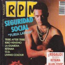 Revistas de música: R P M, Nº 76, REVISTA DE MUSICA, ROBERT PLANT, POSTER CENTRAL: LIVING COLOUR. Lote 31453088