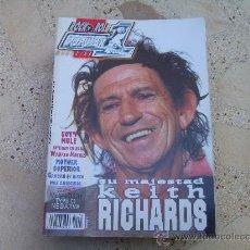 Revistas de música: POPULAR 1 Nº 404, KEITH RICHARDS, MEGADETH, GWAR, TYPE O NEGATIVE, SCORPIONS. Lote 31703971