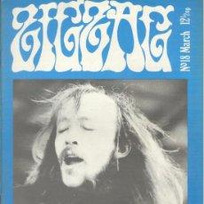 Revistas de música: ZIG ZAG ROCK MAGAZINE Nº 18 MARZO DE 1971. REVISTA INGLESA ORIGINAL. Lote 31971085