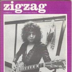 Revistas de música: ZIG ZAG ROCK MAGAZINE Nº 21 1971. REVISTA INGLESA ORIGINAL. Lote 31971749