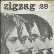 Revistas de música: ZIG ZAG ROCK MAGAZINE Nº 28 FEBRERO 1973. REVISTA INGLESA ORIGINAL. Lote 31975006
