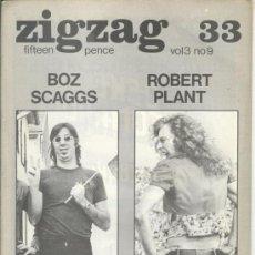 Revistas de música: ZIG ZAG ROCK MAGAZINE Nº 33 1973. REVISTA INGLESA ORIGINAL. Lote 31981698
