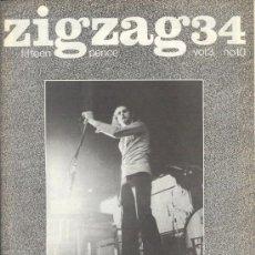 Revistas de música: ZIG ZAG ROCK MAGAZINE Nº 34 1973. REVISTA INGLESA ORIGINAL. Lote 31981709