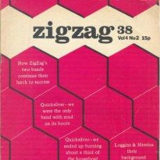 Revistas de música: ZIG ZAG ROCK MAGAZINE Nº 38 1974. REVISTA INGLESA ORIGINAL. Lote 31982078