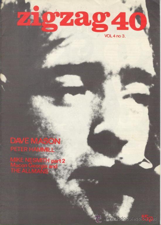 ZIG ZAG ROCK MAGAZINE Nº 40 1974. REVISTA INGLESA ORIGINAL (Música - Revistas, Manuales y Cursos)