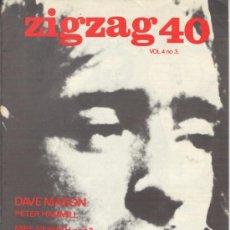 Revistas de música: ZIG ZAG ROCK MAGAZINE Nº 40 1974. REVISTA INGLESA ORIGINAL. Lote 31982351