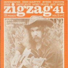 Revistas de música: ZIG ZAG ROCK MAGAZINE Nº 39 1974. REVISTA INGLESA ORIGINAL. Lote 31982376