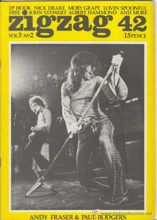 ZIG ZAG ROCK MAGAZINE Nº 42 JUNIO DE 1974. REVISTA INGLESA ORIGINAL (Música - Revistas, Manuales y Cursos)