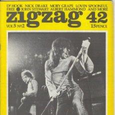 Revistas de música: ZIG ZAG ROCK MAGAZINE Nº 42 JUNIO DE 1974. REVISTA INGLESA ORIGINAL. Lote 31982414