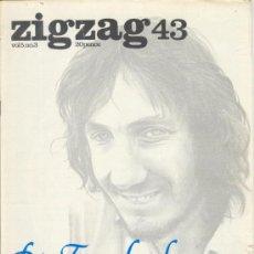 Revistas de música: ZIG ZAG ROCK MAGAZINE Nº 43 1974. REVISTA INGLESA ORIGINAL. Lote 31982436