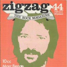 Revistas de música: ZIG ZAG ROCK MAGAZINE Nº 44 AGOSTO DE 1974. REVISTA INGLESA ORIGINAL. Lote 31982462