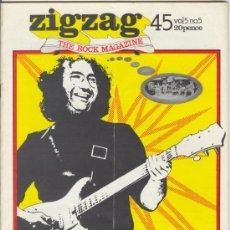 Revistas de música: ZIG ZAG ROCK MAGAZINE Nº 45 SEPTIEMBRE DE 1974. REVISTA INGLESA ORIGINAL. Lote 31982483