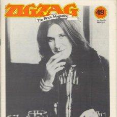 Revistas de música: ZIG ZAG ROCK MAGAZINE Nº 49 ENERO DE 1975. REVISTA INGLESA ORIGINAL. Lote 31982679