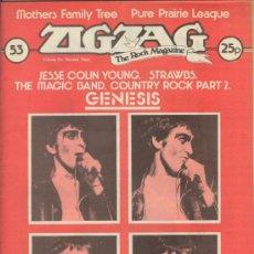 Revistas de música: ZIG ZAG ROCK MAGAZINE Nº 53 JUNIO DE 1975. REVISTA INGLESA ORIGINAL. Lote 31982710