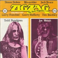 Revistas de música: ZIG ZAG ROCK MAGAZINE Nº 55 AGOSTO DE 1975. REVISTA INGLESA ORIGINAL. Lote 31982798
