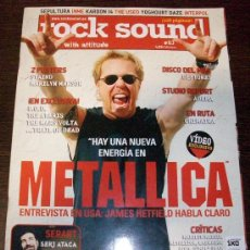 Revistas de música: ROCK SOUND Nº 63 METALLICA - 2 POSTERS STAIND Y MARILYN MANSON SIN CD. Lote 31986438