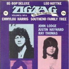 Revistas de música: ZIG ZAG ROCK MAGAZINE Nº 56 SEPTIEMBRE DE 1975. REVISTA INGLESA ORIGINAL. Lote 31992367