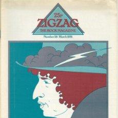 Revistas de música: ZIG ZAG ROCK MAGAZINE Nº 58 MARZO DE 1976. REVISTA INGLESA ORIGINAL. Lote 31992429