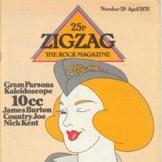 Revistas de música: ZIG ZAG ROCK MAGAZINE Nº 59 ABRIL DE 1976. REVISTA INGLESA ORIGINAL. Lote 31992459