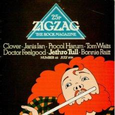 Revistas de música: ZIG ZAG ROCK MAGAZINE Nº 62 JULIO DE 1976. REVISTA INGLESA ORIGINAL. Lote 31992519