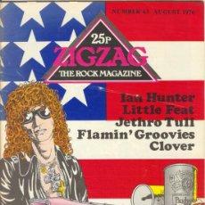Revistas de música: ZIG ZAG ROCK MAGAZINE Nº 63 AGOSTO DE 1976. REVISTA INGLESA ORIGINAL. Lote 31992543