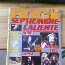 Revistas de música: ROCK NUMERO 37 SEPTIEMBRE CALIENTE AC/DC JETHRO TULL IRON MAIDEN ZAPPA 1984. Lote 38295770