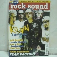 Revistas de música: ROCK SOUND Nº 6 REVISTA-KORN FEAR FACTORY DOSSIER SKA PUNK. Lote 32120331