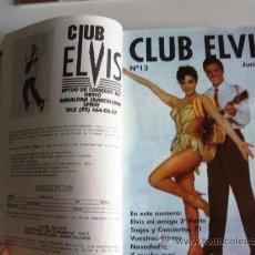 Revistas de música: REVISTAS CLUB ELVIS Nº 12 AL Nº 20. ENCUADERNADAS EN TAPA DURA.. Lote 32353062