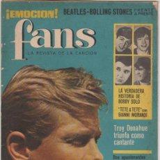 Revistas de música: REVISTA FANS - Nº1 AÑO 1 (1965). Lote 33302215