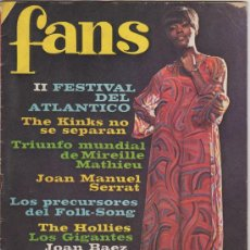 Revistas de música: REVISTA FANS - Nº110 AÑO 3 (1967). Lote 33302328