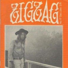 Revistas de música: ZIG ZAG ROCK MAGAZINE Nº 17 DICIEMBRE/ENERO DE 1971. REVISTA INGLESA ORIGINAL. Lote 34149289