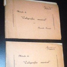 Revistas de música: METODO DE CALIGRAFIA MUSICAL POR RICARDO DORADO CAUDERNO A Y B. Lote 35388688