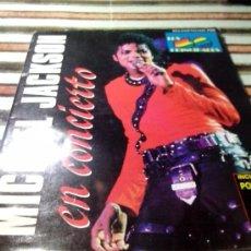 Revistas de música: REVISTA MICHAEL JACKSON EN CONCIERTO MADRID 1988. Lote 35402548