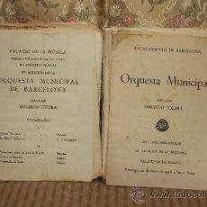 Revistas de música: 2434- LOTE DE 45 PROGRAMAS DE LA ORQUESTA MUNICIPAL DE BARCELONA Y TEMPORADAS DE CONCIERTOS.. Lote 35634911