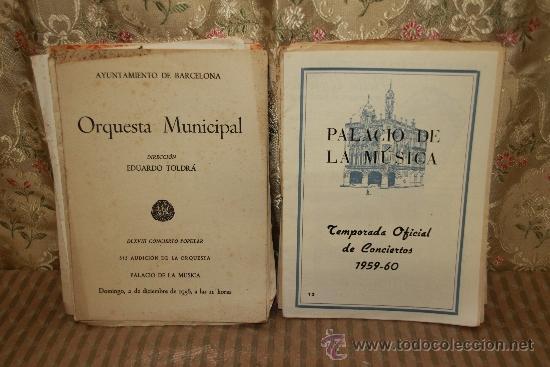 Revistas de música: 2434- LOTE DE 45 PROGRAMAS DE LA ORQUESTA MUNICIPAL DE BARCELONA Y TEMPORADAS DE CONCIERTOS. - Foto 2 - 35634911