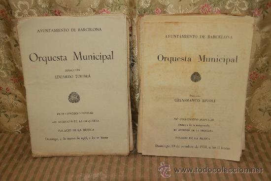 Revistas de música: 2434- LOTE DE 45 PROGRAMAS DE LA ORQUESTA MUNICIPAL DE BARCELONA Y TEMPORADAS DE CONCIERTOS. - Foto 3 - 35634911