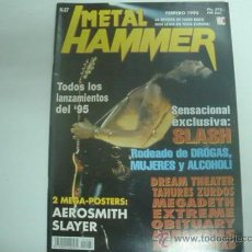 Revistas de música: METAL HAMMER Nº87 SLASH EXTREME DREAM THEATER POSTER SLAYER AEROSMITH. Lote 35784232