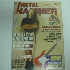 Revistas de música: METAL HAMMER Nº80 7/1994 POSTER METALLICA. Lote 35784844