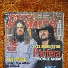 Revistas de música: METAL HAMMER - 150 - MAYO 2000 - PANTERA, IRON MAIDEM, ENTOMBED, ONE MINUTE SILECE, KISS. Lote 36239128