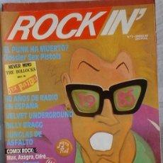 Revistas de música: REVISTA ROCK IN' - Nº 2 - ENERO DE 1985. DOSSIER SEX PISTOLS.. Lote 36294171